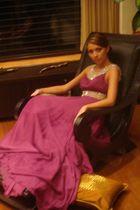 purple from Siria dress