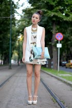 Zara vest - nowIStyle dress - custom made bag - sammydresse heels - H&M necklace