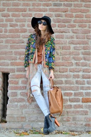 green PERSUNMALL jacket - black Jeffrey Campbell boots