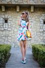 Aquamarine-shein-dress-yellow-bag-sky-blue-pumps