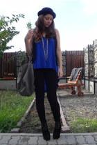 Zara leggings - New Yorker hat - Zara bag - Zara top - Zara vest