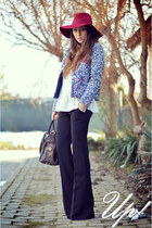 blue Sheinside jacket - black Up pants