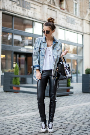 blue denim jacket jacket