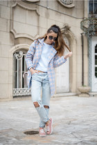 sky blue sweatshirt