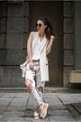 White-jeans-white-vest-white-top