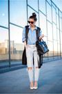 Sky-blue-jeans-blue-shirt-black-sheinside-vest-white-lavine-pumps