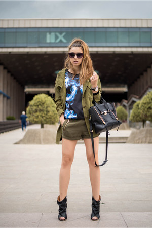 army green jacket - army green shorts