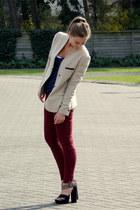 H&M heels - Forever 21 jeans - Zara blazer - Zara t-shirt
