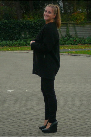 Zara jeans - Urban Outfitters coat - COS sweater - Zara wedges