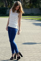 Topshop top - Zara jeans - H&M heels
