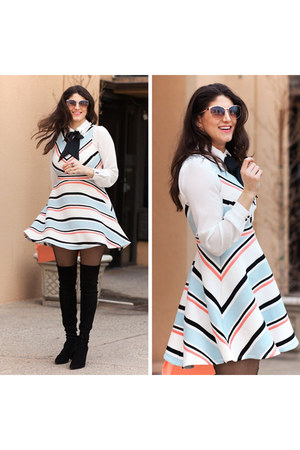 white chevron print Target dress