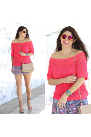 hot pink cotton on sweater