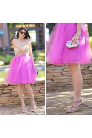 bubble gum Space 46 Boutique skirt