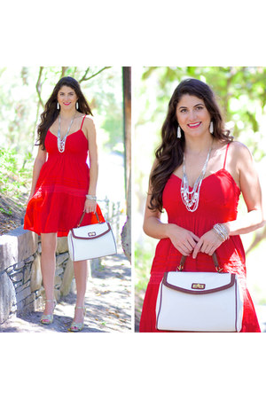 red Ross dress
