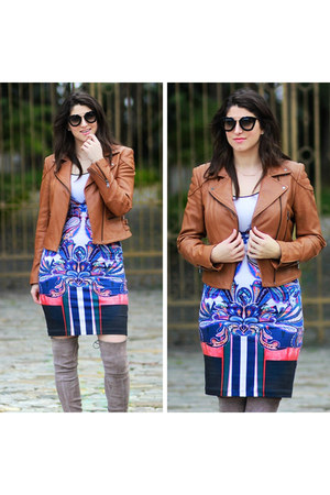 tan leather Express jacket
