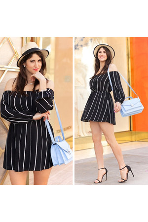 black striped sosie dress