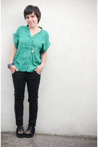 cocolove blouse - creepers Barratt shoes - River Island jeans