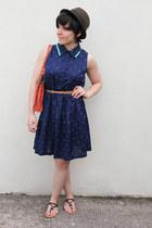 new look dress - H&M hat - Radley bag - new look sandals