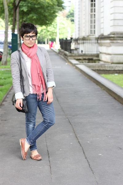 cazal glasses - next jeans - Topshop jacket - dents bag - asos loafers