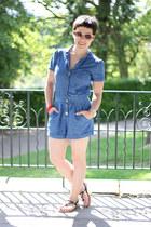 Miss Selfridge romper - new look sandals - Guess watch