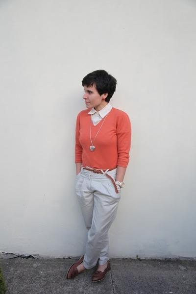 ben sherman shirt - Artigiano jumper - H&M pants - thrifted belt