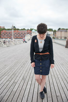 Mossimo cardigan - Topshop dress - thrifted vintage belt - Laura Ashley necklace