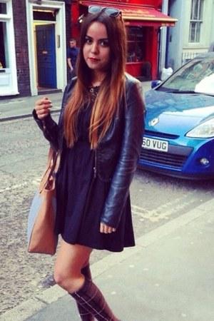 H&M dress - Zara jacket - Accessorize bag - Clarks flats