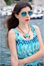 Turquoise-blue-h-m-dress