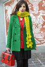 Carrot-orange-h-m-blazer-forest-green-mango-coat-brick-red-new-yorker-bag