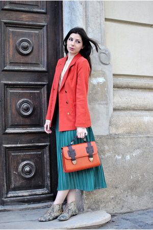 tawny New Yorker bag - olive green Topshop boots - carrot orange H&M blazer