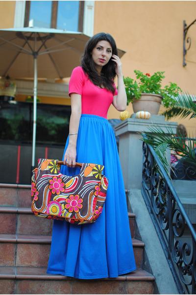 sky blue Kotton skirt - coral New Yorker bodysuit