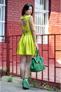 Yellow-lashez-dress-chartreuse-nissa-bag