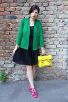 teal H&M jacket - black H&M dress
