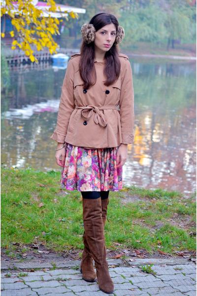 puce Zara boots