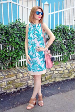 aquamarine H&M dress