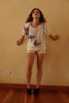 Bonnie Boerer & Co top - Gap shorts - Zara shoes