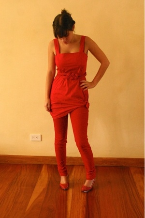 Zara dress - MNG pants - belt - shoes