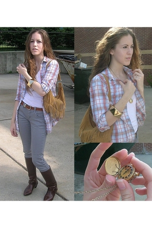 Dolled Up shirt - forever 21 jeans - vintage belt - vintage boots - vintage from