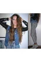 Forever 21 shirt - Juicy Couture vest - vintage jeans - vintage boots - vintage
