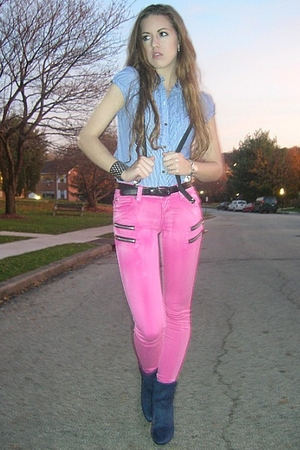 American Eagle shirt - Tripp NYC jeans - Fioni boots - Hot Topic accessories - v