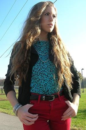 Bisou Bisou blazer - White Stag shirt - H&M pants - vintage bracelet - merona bo
