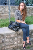 Old Navy shirt - Encore jeans - vintage shoes - Style & Co purse - vintage neckl
