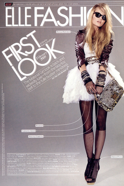 Balmain dress - Rock & Republic jacket - Carolina Amato gloves - Dolce & Gabbana