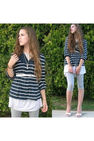 Old Navy shirt - forever 21 shirt - xhilaration leggings - Footsies shoes - fore