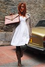 Brown-migato-boots-ivory-bershka-dress-camel-zara-coat