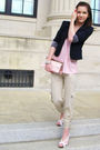 Forever-21-blazer-pink-express-shirt-beige-rue-21-pants-white-rue-21-shoes