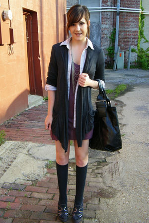 rue21 cardigan - Forever 21 shoes - Wal-MartMiley Cyrus dress - Ross bag