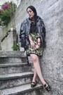 Black-vintage-jacket-chartreuse-shift-kensie-t-shirt