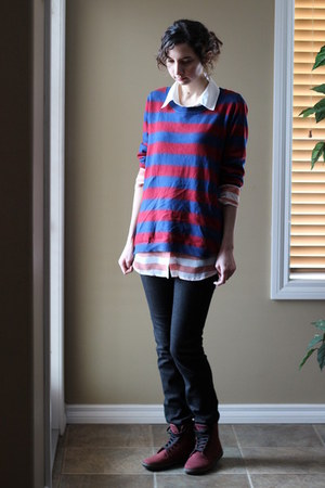 Smart Set sweater - Dr Martens boots - American Eagle jeans