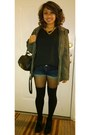 Black-boots-army-green-forever21-coat-blue-forever21-shorts